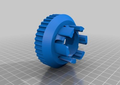 3D printed pulley