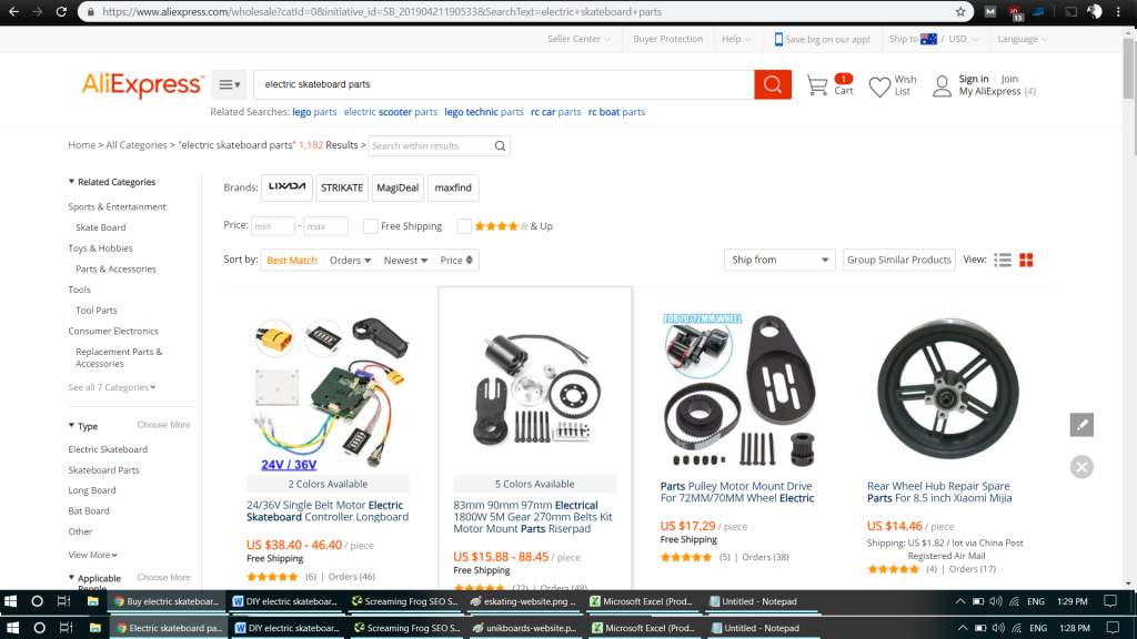 Supplier of Electronic Skateboard Kits and Parts 8